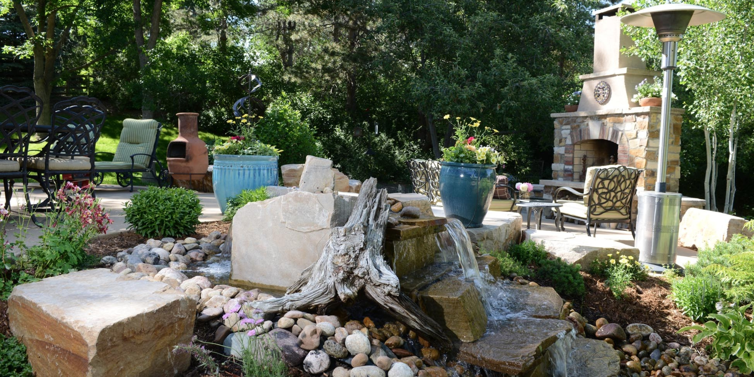 Backyard Waterfall Landscaping - Cherry Hills Village