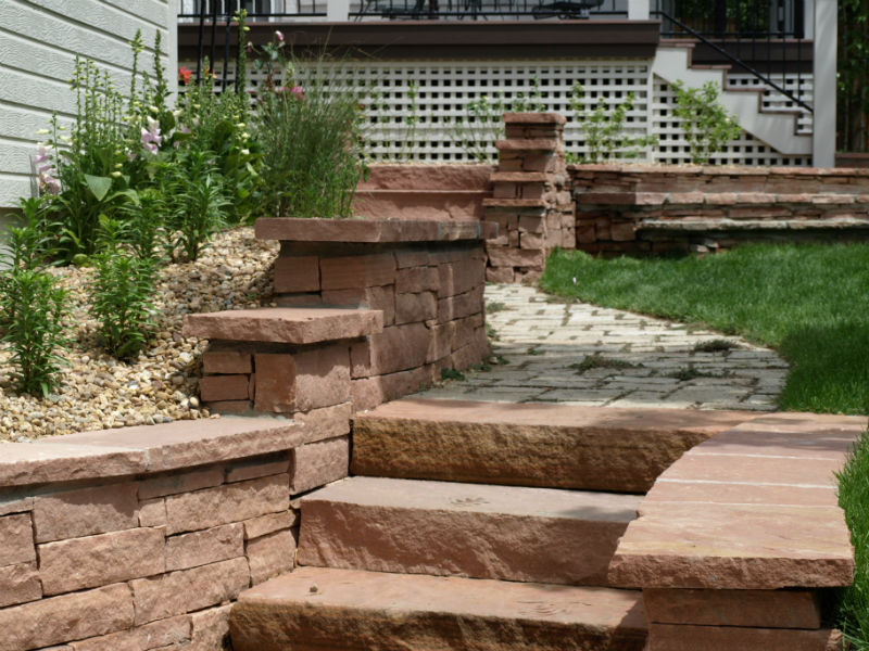 how to build flagstone stairs