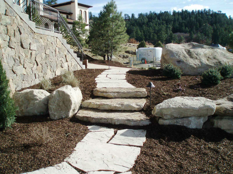 Denver Landscaping Stone Steps, Walkways & Stairs